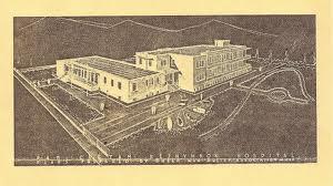 ^ Μακέτα του νοσοκομείου το 1954